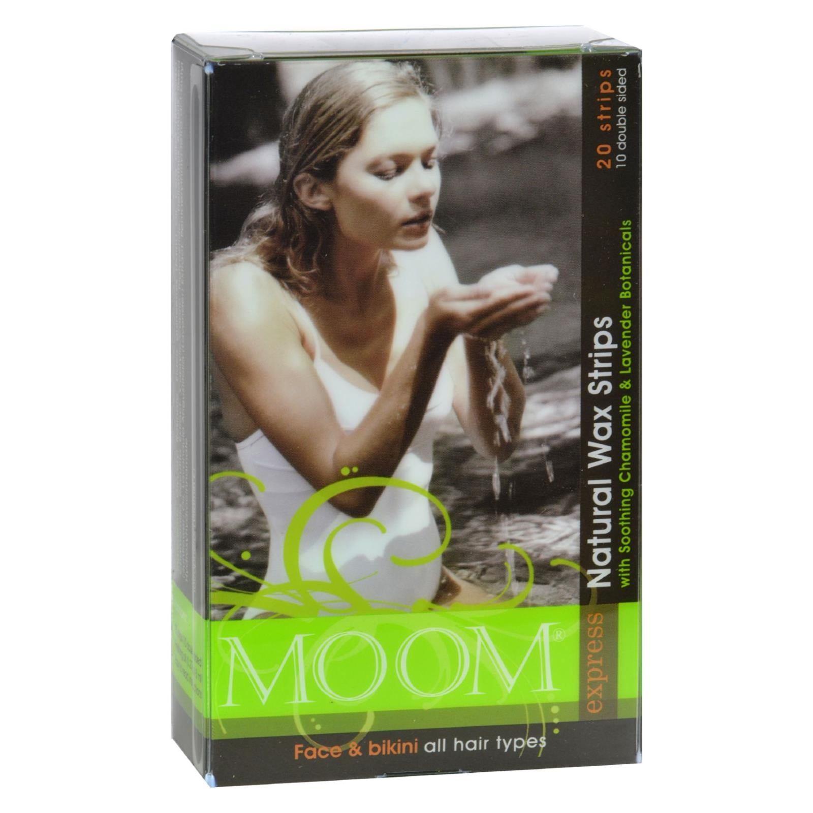 Moom Natural Wax Strips With Soothing Chamomile And Lavender - 20 Strips HG0109710