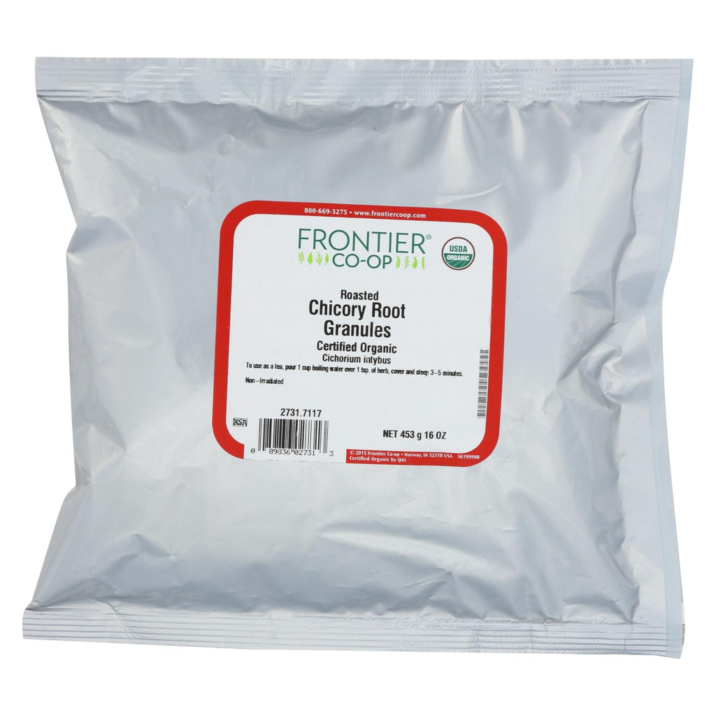 Frontier Herb Organic Roasted Chicory Root Granules - 1 Lb.