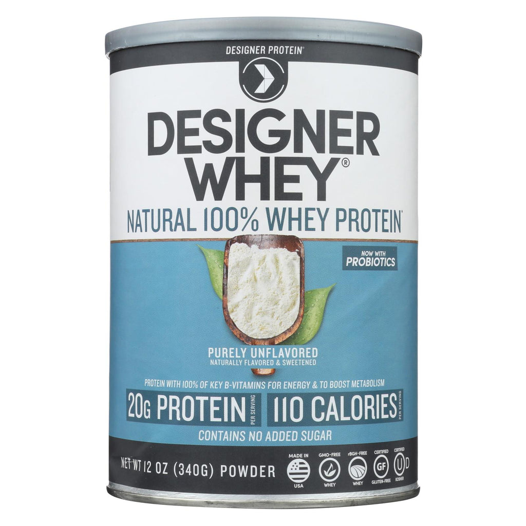 Designer Whey Natural Whey Protein - 12 Oz - The Green Life