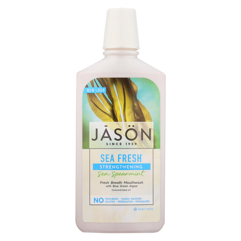 Jason Sea Fresh Biologically Active Mouthwash Deep Sea Spearmint - 16 Fl Oz - The Green Life