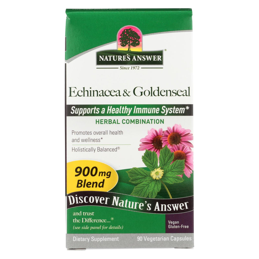 Nature's Answer - Echinacea With Goldenseal - 90 Vcaps