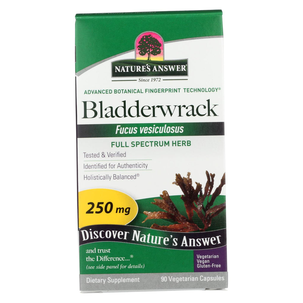 Nature's Answer - Bladderwrack Thallus - 90 Vegetarian Capsules