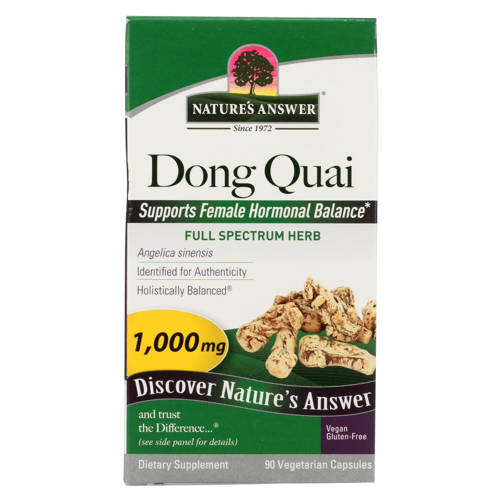 Nature's Answer Dong Quai Root Extract - 90 Vegetarian Capsules HG0123729