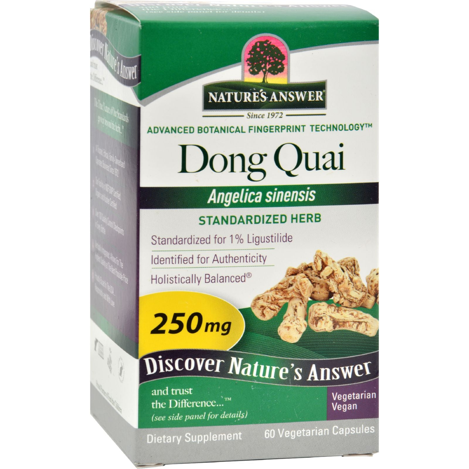 Nature's Answer Dong Quai Root Extract - 60 Vegetarian Capsules HG0124297