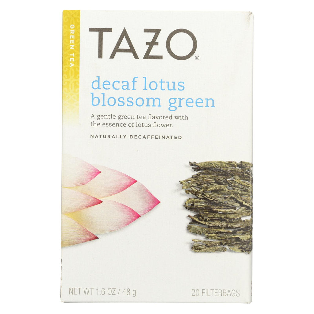 Tazo Tea Lotus Green Tea - Decaffeinated - Case Of 6 - 20 Bag