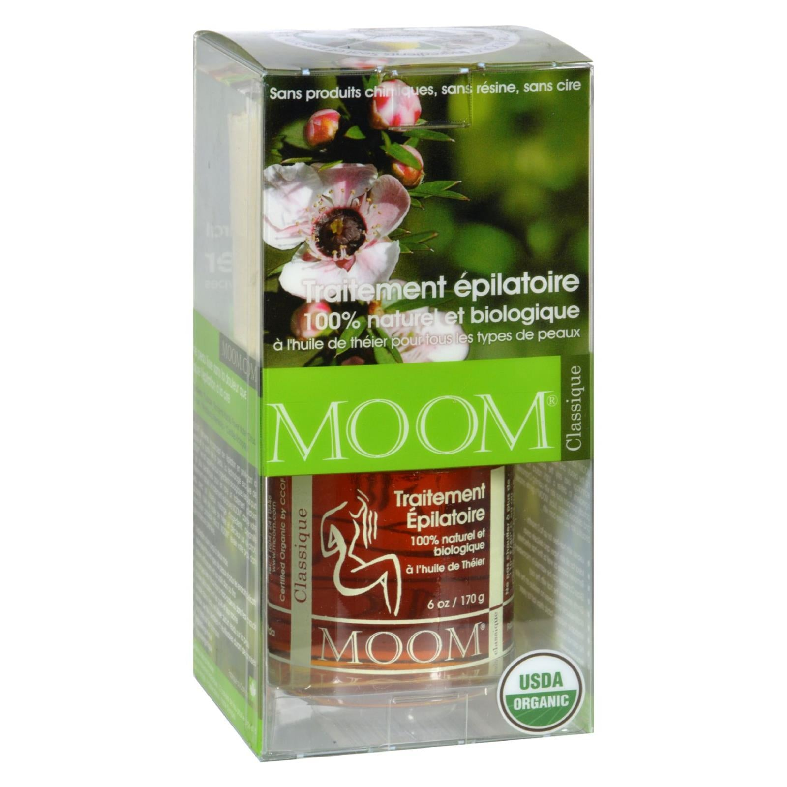 Moom Organic Hair Removal Kit With Tea Tree Classic - 1 Kit HG0167031
