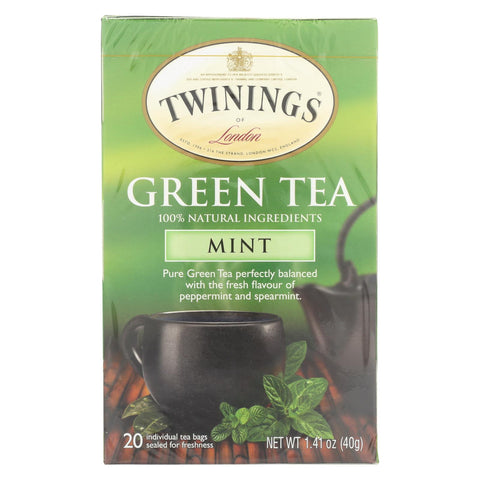 Twining's Tea Green Tea - Mint - Case Of 6 - 20 Bags