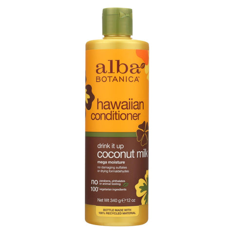 Alba Botanica Hawaiian Hair Conditioner Coconut Milk - 12 Fl Oz - The Green Life