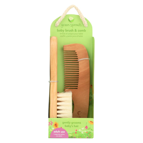 Green Sprouts Comb And Brush Set