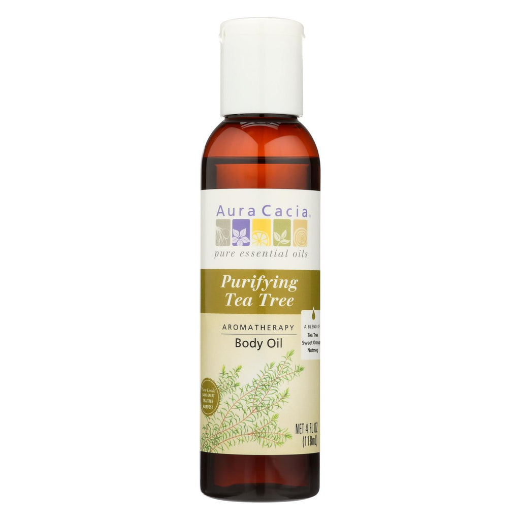 Aura Cacia Aromatherapy Bath Body And Massage Oil Tea Tree Harvest - 4 Fl Oz
