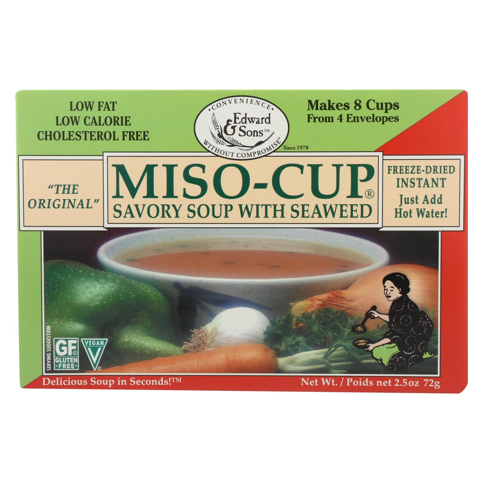 Edward And Sons Seaweed Miso - Cup - Case Of 12 - 2.5 Oz. HG0296400