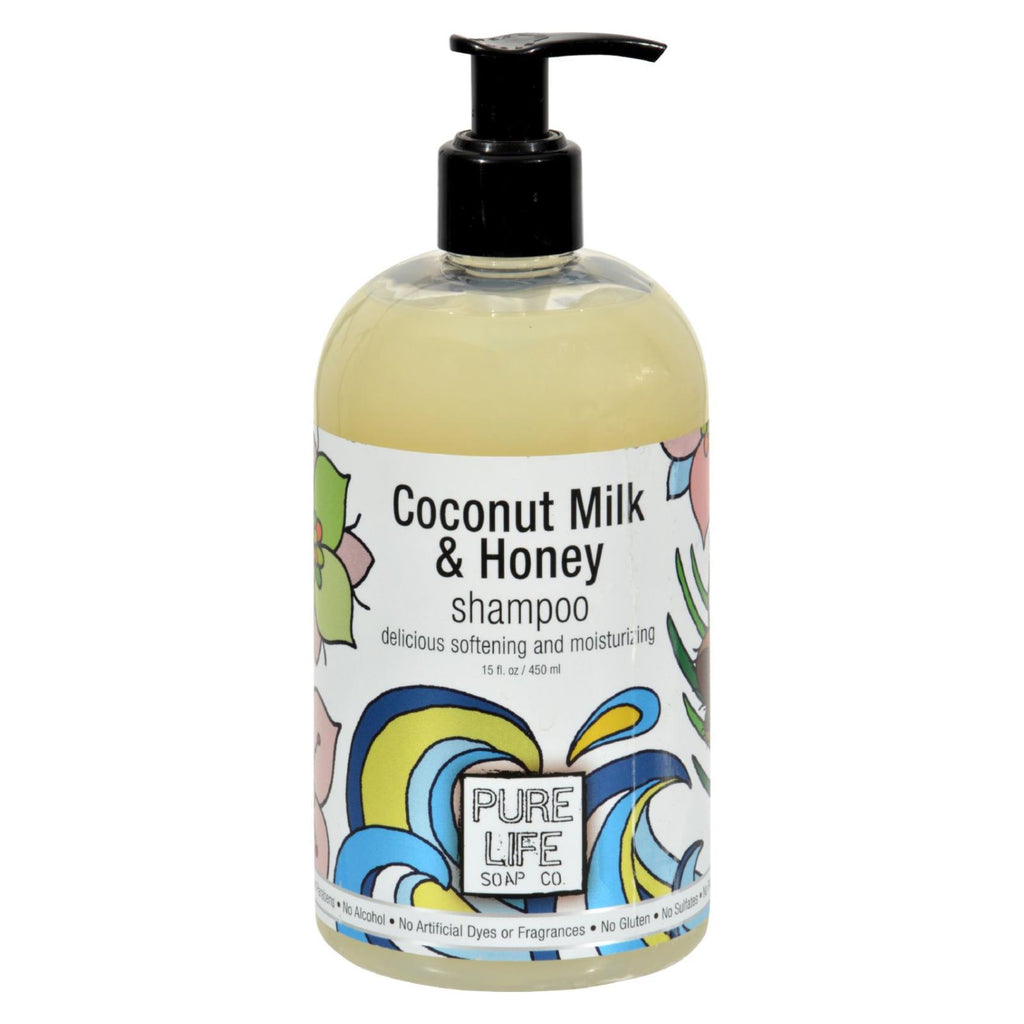 Pure Life Soap Shampoo - Coconut Milk And Honey - 15 Fl Oz - The Green Life