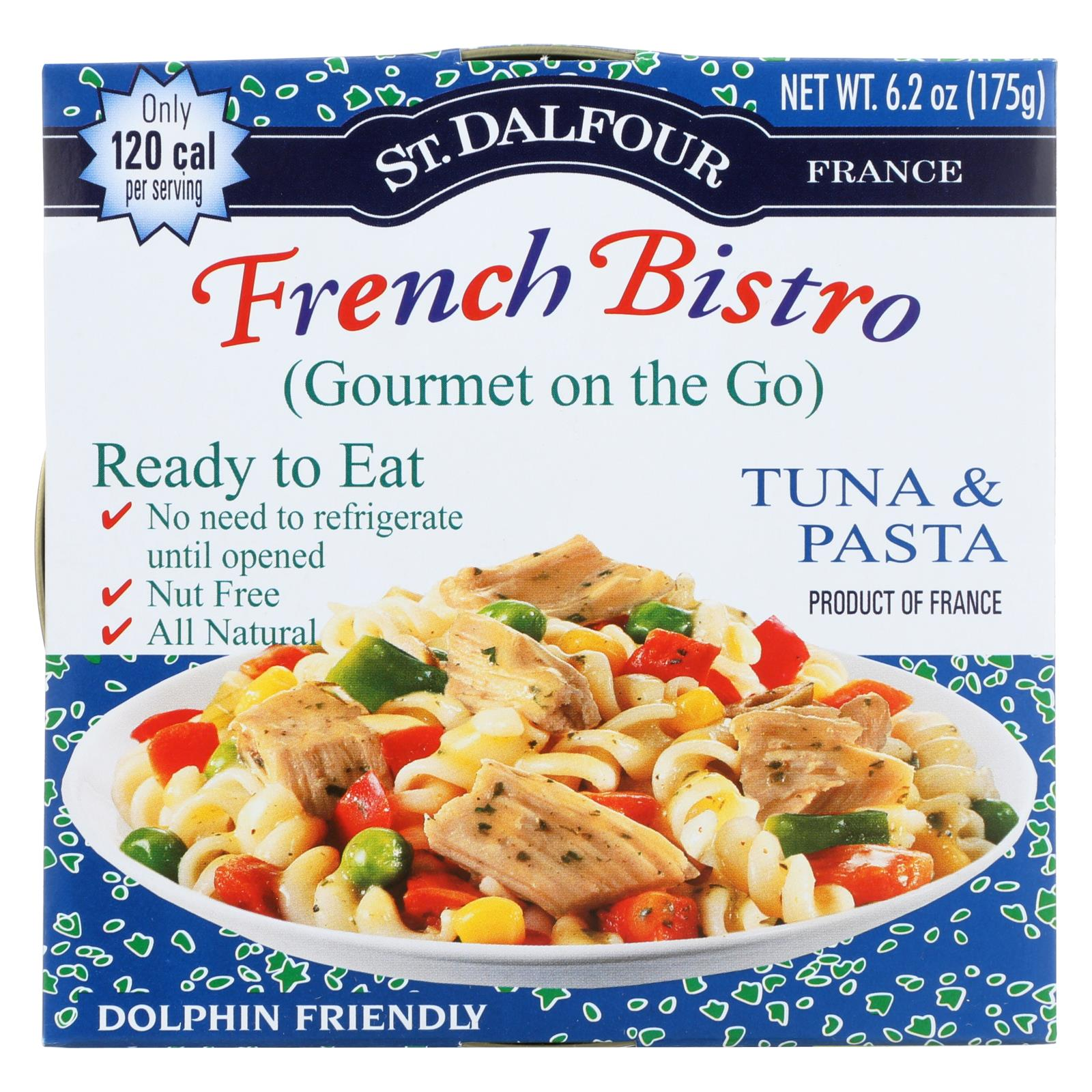 St Dalfour Gourmet On The Go - Ready To Eat - Tuna And Pasta - 6.2 Oz - Case Of 6 HG0337428