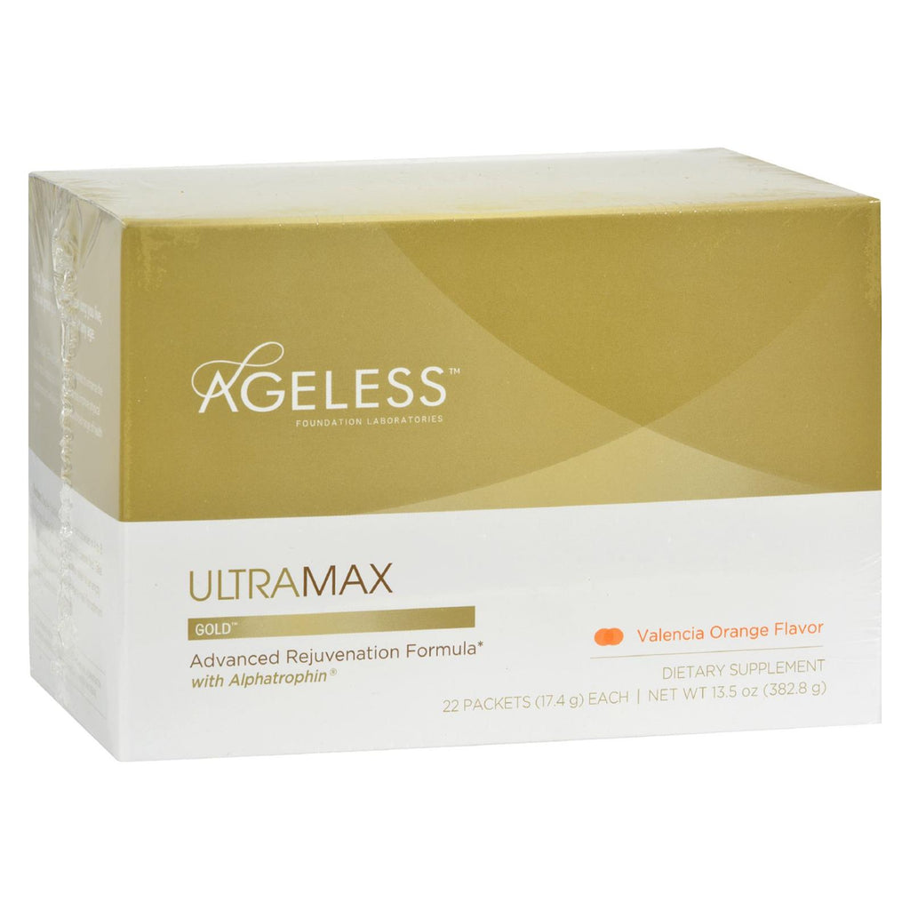 Ageless Foundation Ultramax Gold With Alphatrophin Valencia Orange - 22 Packets