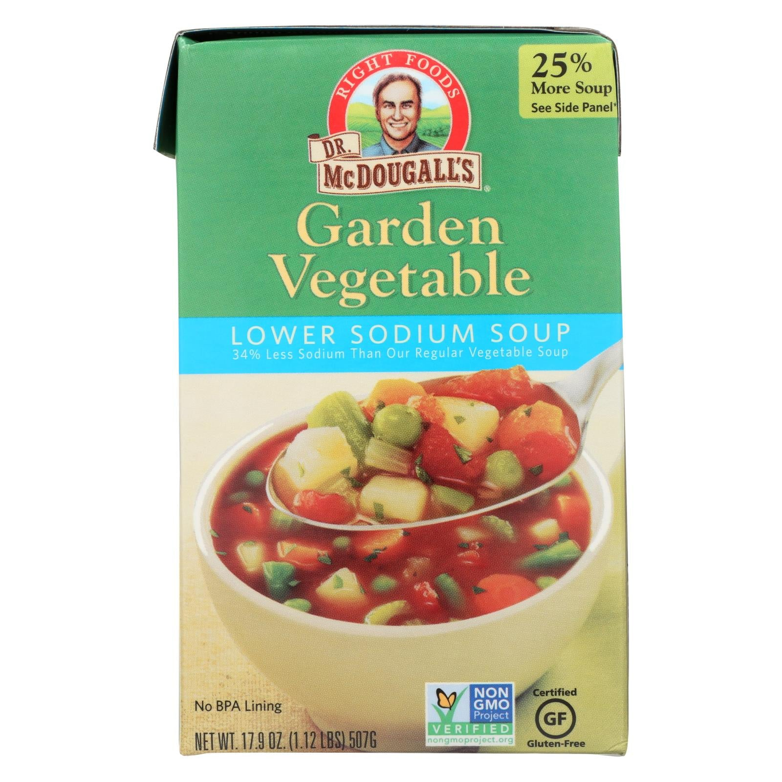 Dr. Mcdougall's Garden Vegetable Lower Sodium Soup - Case Of 6 - 17.9 Oz. HG0396929