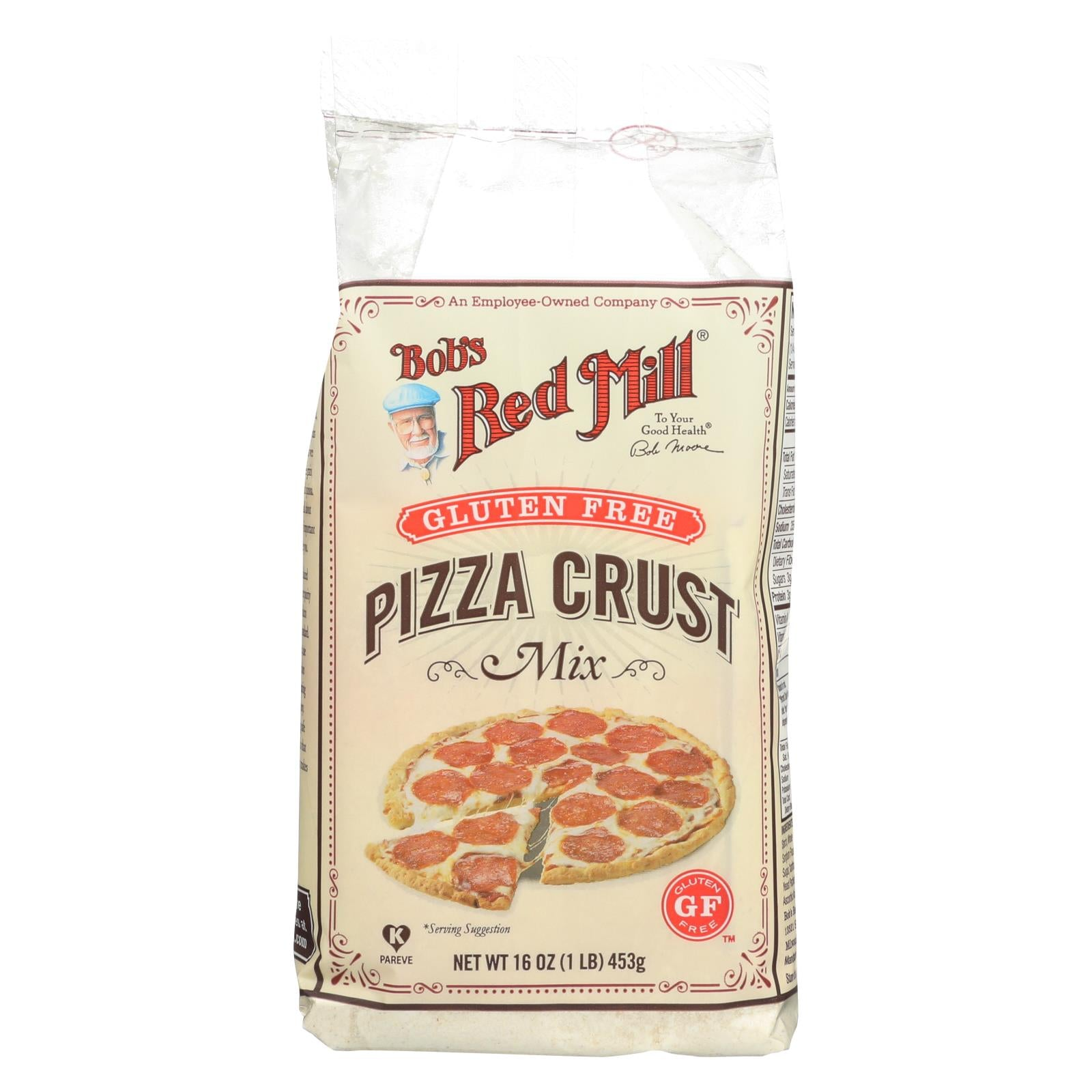 Bob's Red Mill Gluten Free Pizza Crust Mix - 16 Oz - Case Of 4 HG0443143