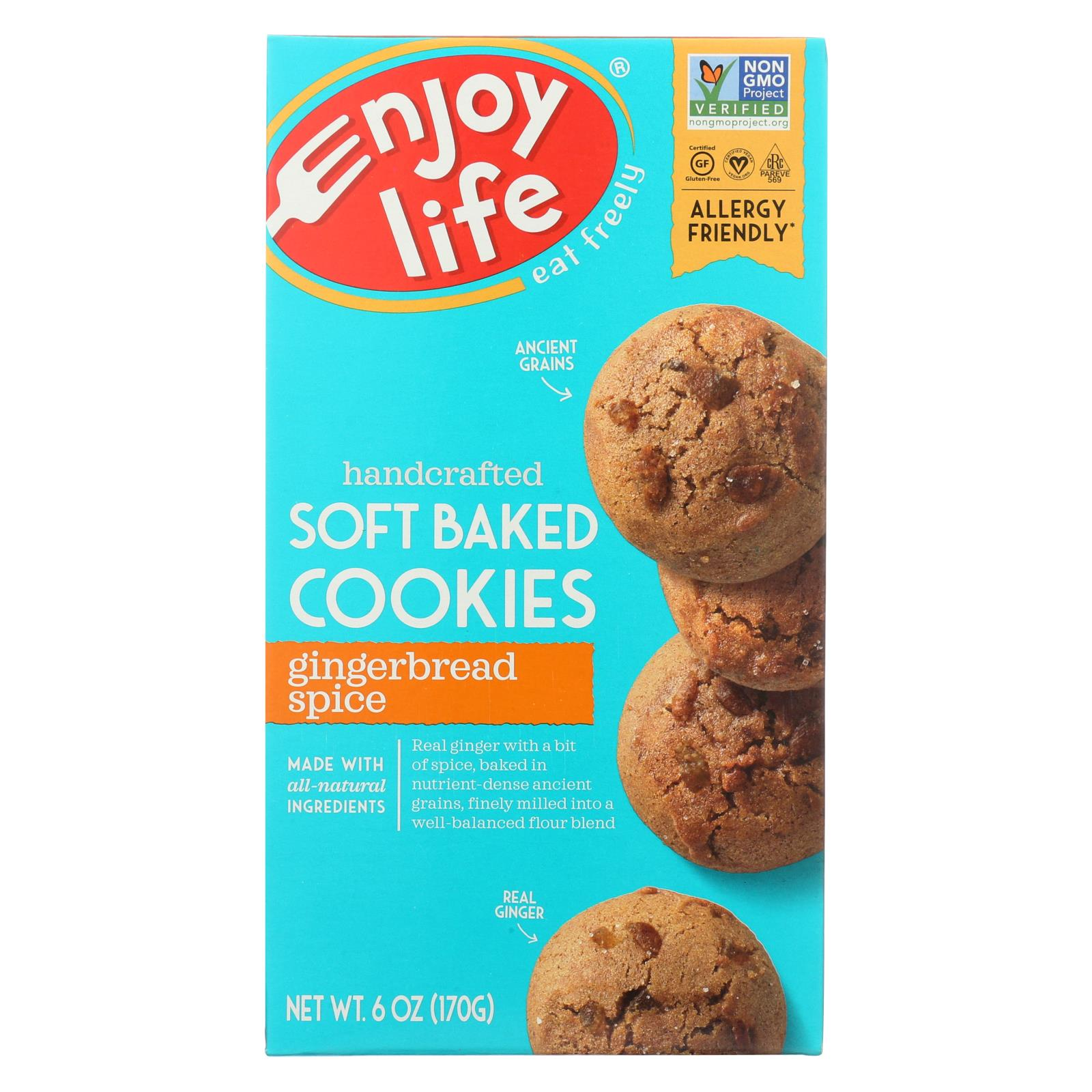 Enjoy Life Cookie Soft Baked Gingerbread Spice Gluten Free 6 Oz Case Of 6 HG0515635