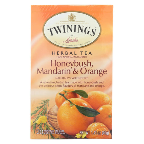 Twining's Tea Herbal Tea - Honeybush, Mandarin And Orange - Case Of 6 - 20 Bags