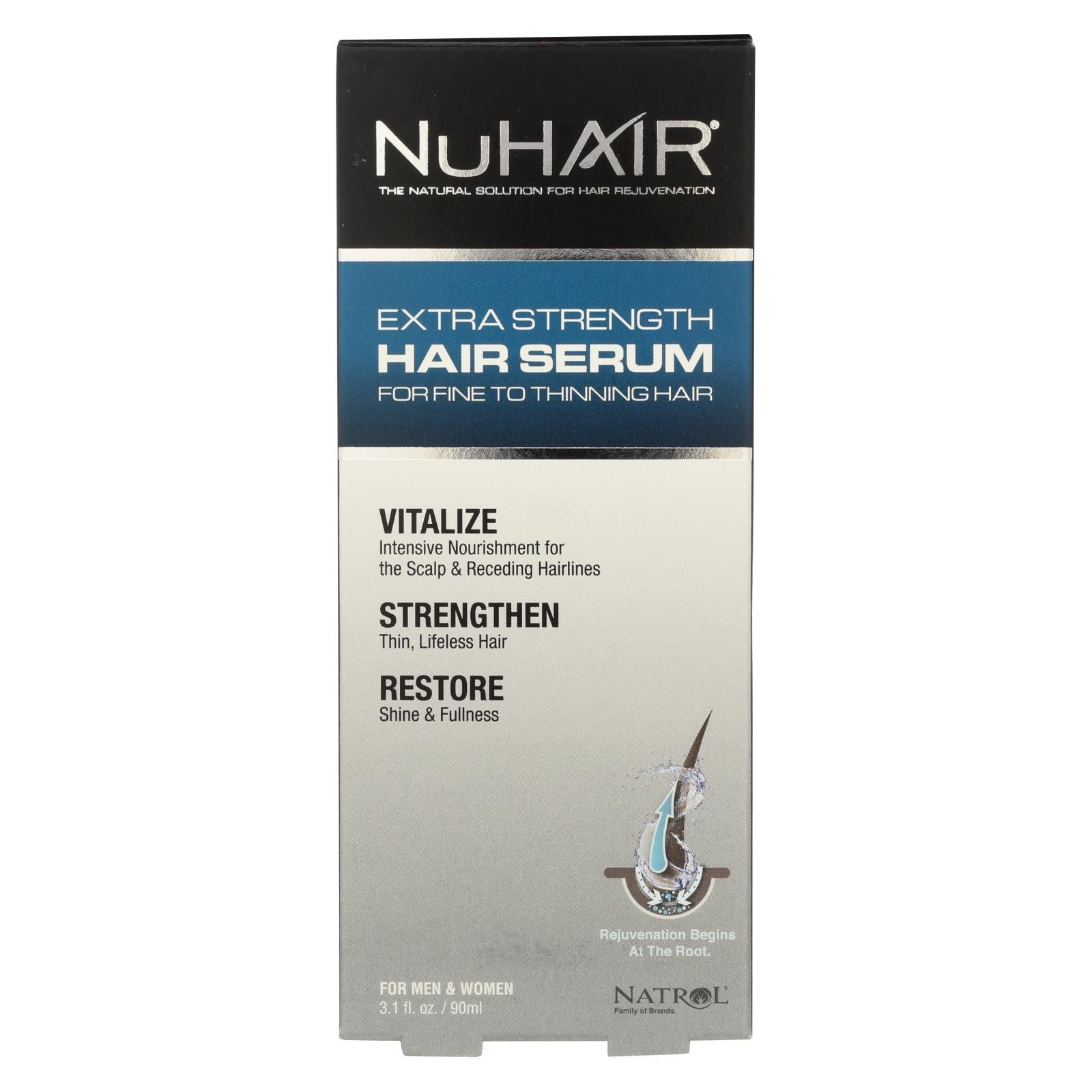 Nuhair Extra Strength Thinning Hair Serum For Men And Women - 3.1 Fl Oz HG0607093