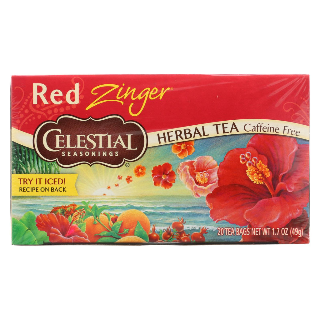 Celestial Seasonings Herbal Tea Caffeine Free Red Zinger - 20 Tea Bags - Case Of 6 - The Green Life