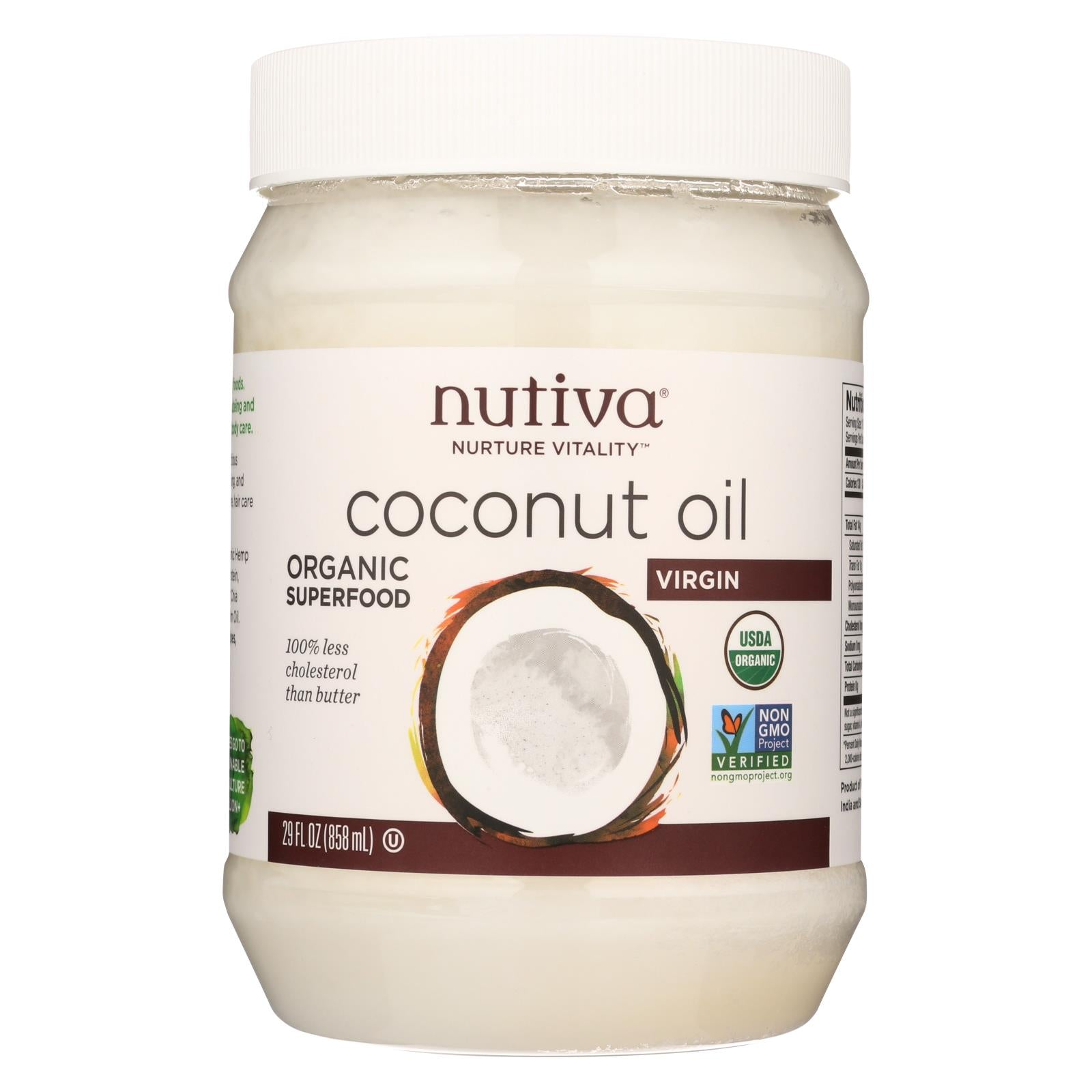nutiva organic virgin coconut oil 29 oz the green life. Black Bedroom Furniture Sets. Home Design Ideas
