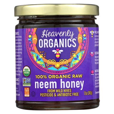 Heavenly Organics Organic Honey - Wild Forest - Case Of 6 - 12 Oz.