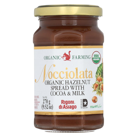 Nocciolata Organic Spread - Hazelnut - Case Of 6 - 9.52 Oz.