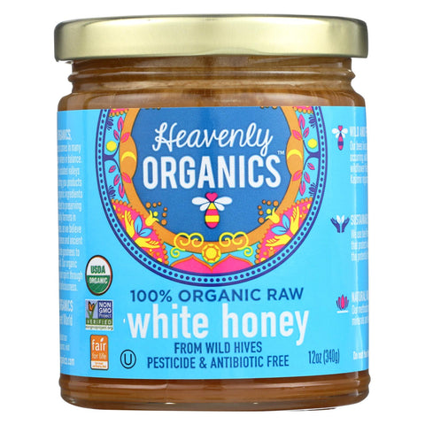 Heavenly Organics Organic Honey - White, Raw - Case Of 6 - 12 Oz.