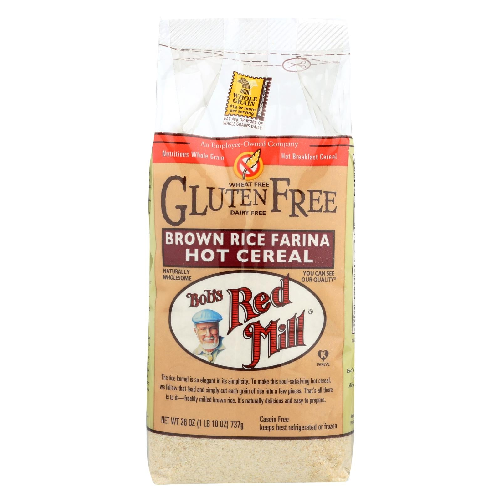 Bob's Red Mill Creamy Brown Rice Farina Hot Cereal - 26 Oz - Case Of 4 HG0707166