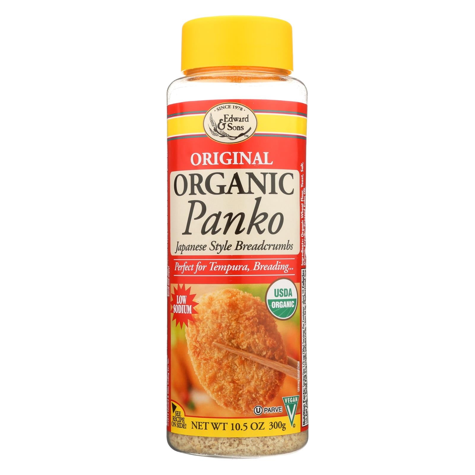 Edward And Sons Organic Panko Breadcrumbs - Case Of 6 - 10.5 Oz. HG0731992