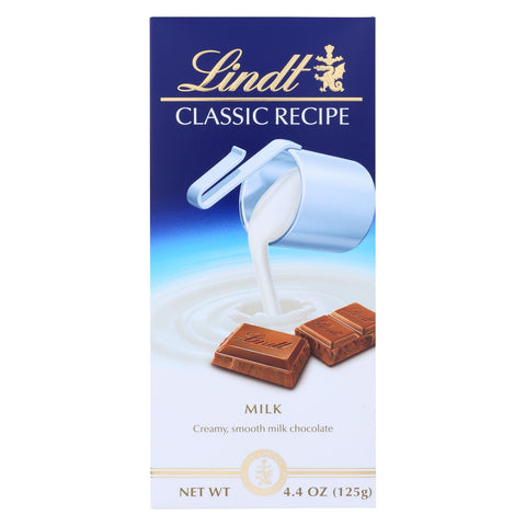 Lindt Chocolate Bar - Milk Chocolate - 31 Percent Cocoa - Classic Recipe - 4.4 Oz Bars - Case Of 12