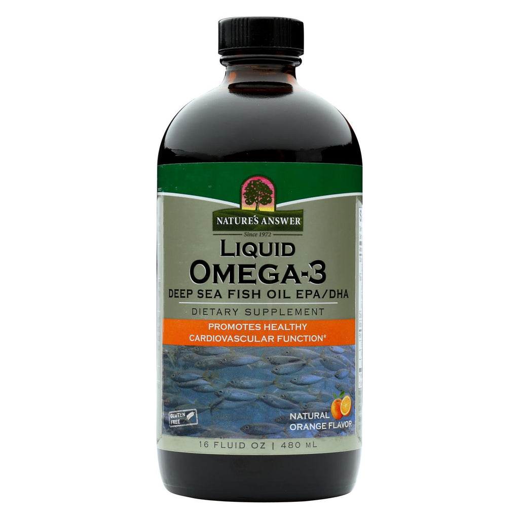 Nature's Answer Liquid Omega-3 Fish Oil - 16 Fl Oz - The Green Life
