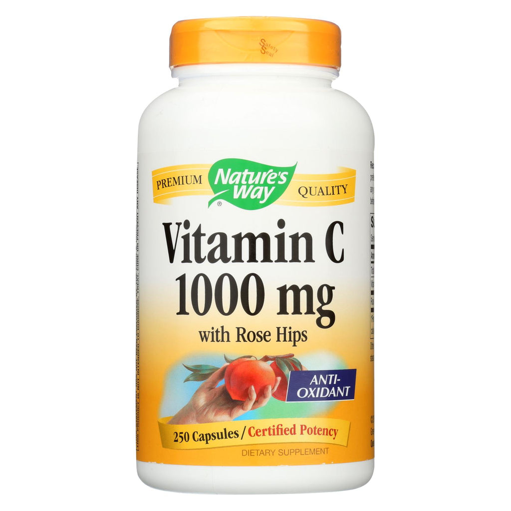 Nature's Way Vitamin C With Rose Hips - 1000 Mg - 250 Capsules - The Green Life