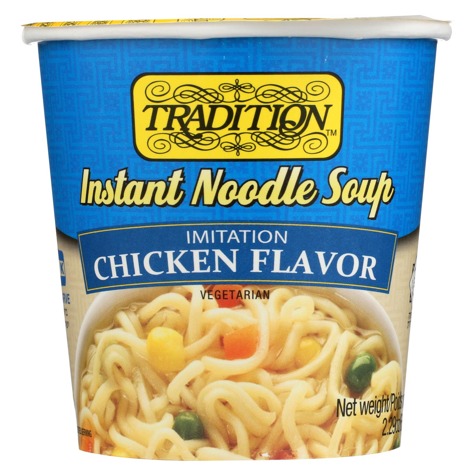 Tradition Foods Instant Noodle Soup - Chicken - Case Of 12 - 2.29 Oz. HG0863662