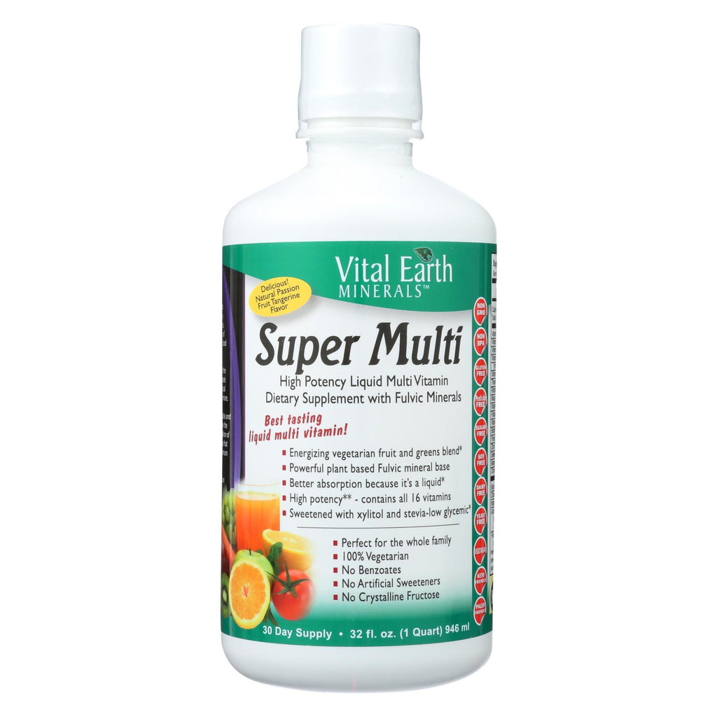 Vital Earth Minerals Super Multi Passion Fruit - 32 Fl Oz - The Green Life