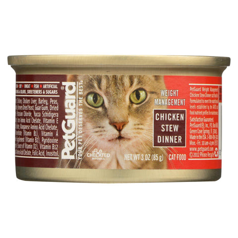 Petguard Cats Food - Chicken Stew Dinner - Case Of 24 - 3 Oz.