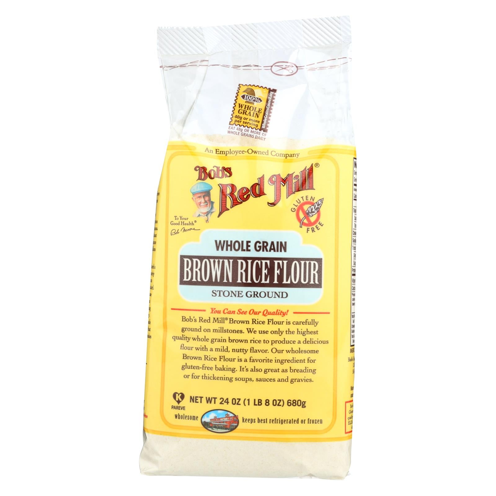Bob's Red Mill Gluten Free Brown Rice Flour 24 Oz Case Of 4 HG0902858