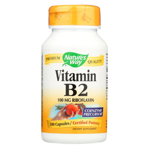 Nature's Way - Vitamin B-2 - 100 Mg - 100 Capsules