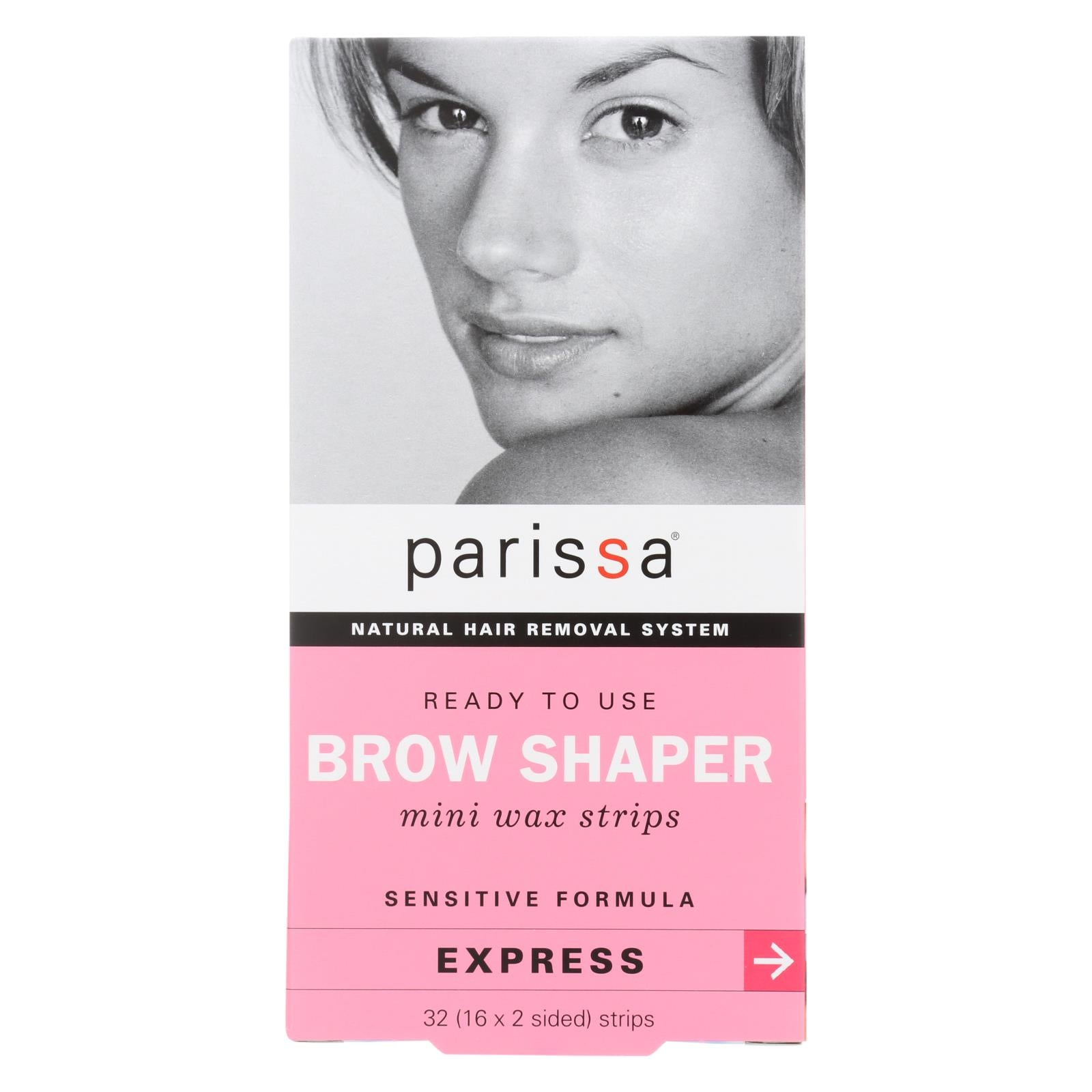 Parissa Natural Hair Removal System Brow Shaper - 32 Strips HG0935056