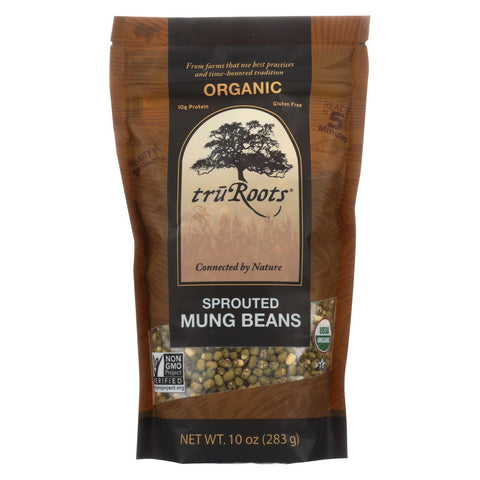 Truroots Organic Mung Beans - Sprouted - Case Of 6 - 10 Oz.