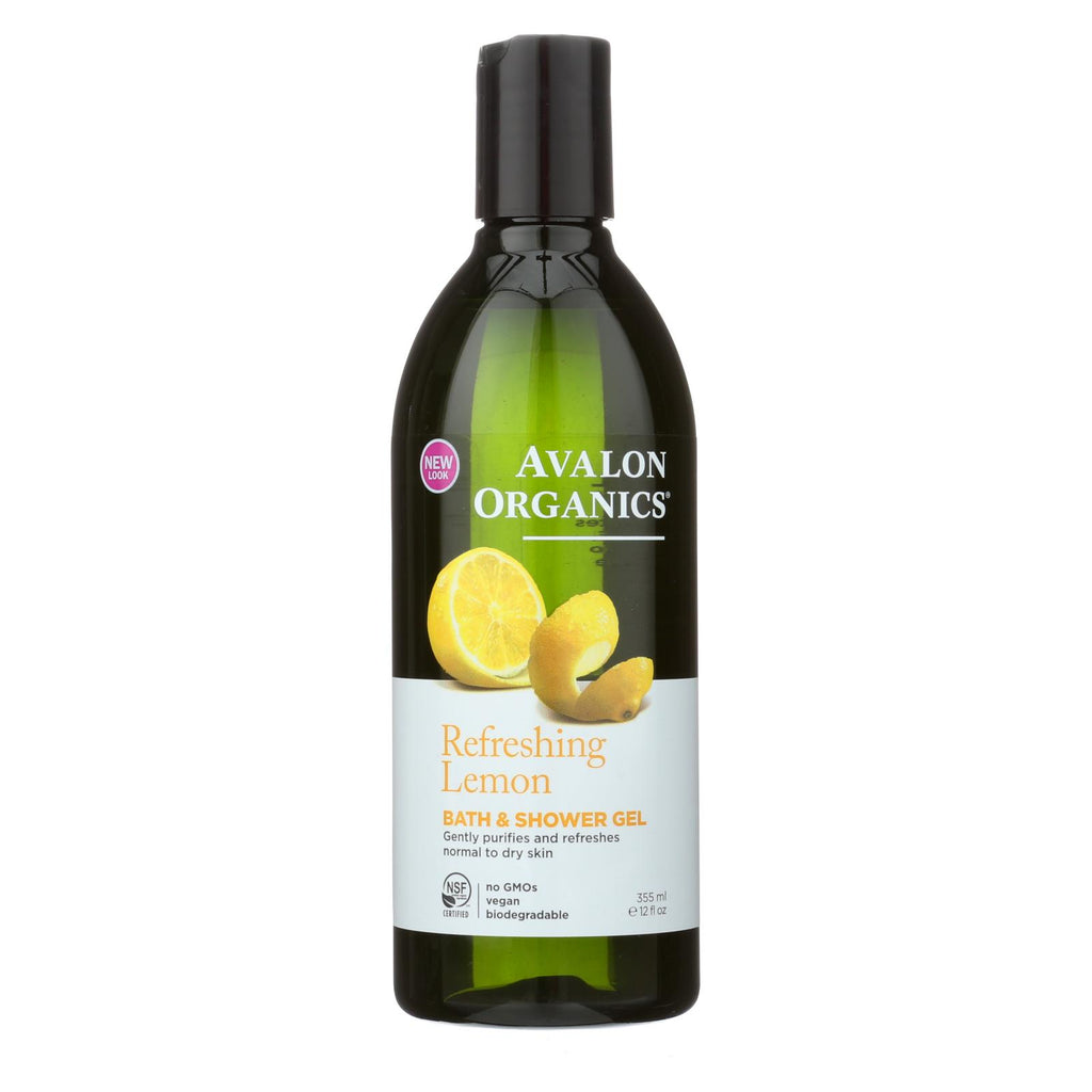 Avalon Organics Bath And Shower Gel Lemon - 12 Fl Oz - The Green Life