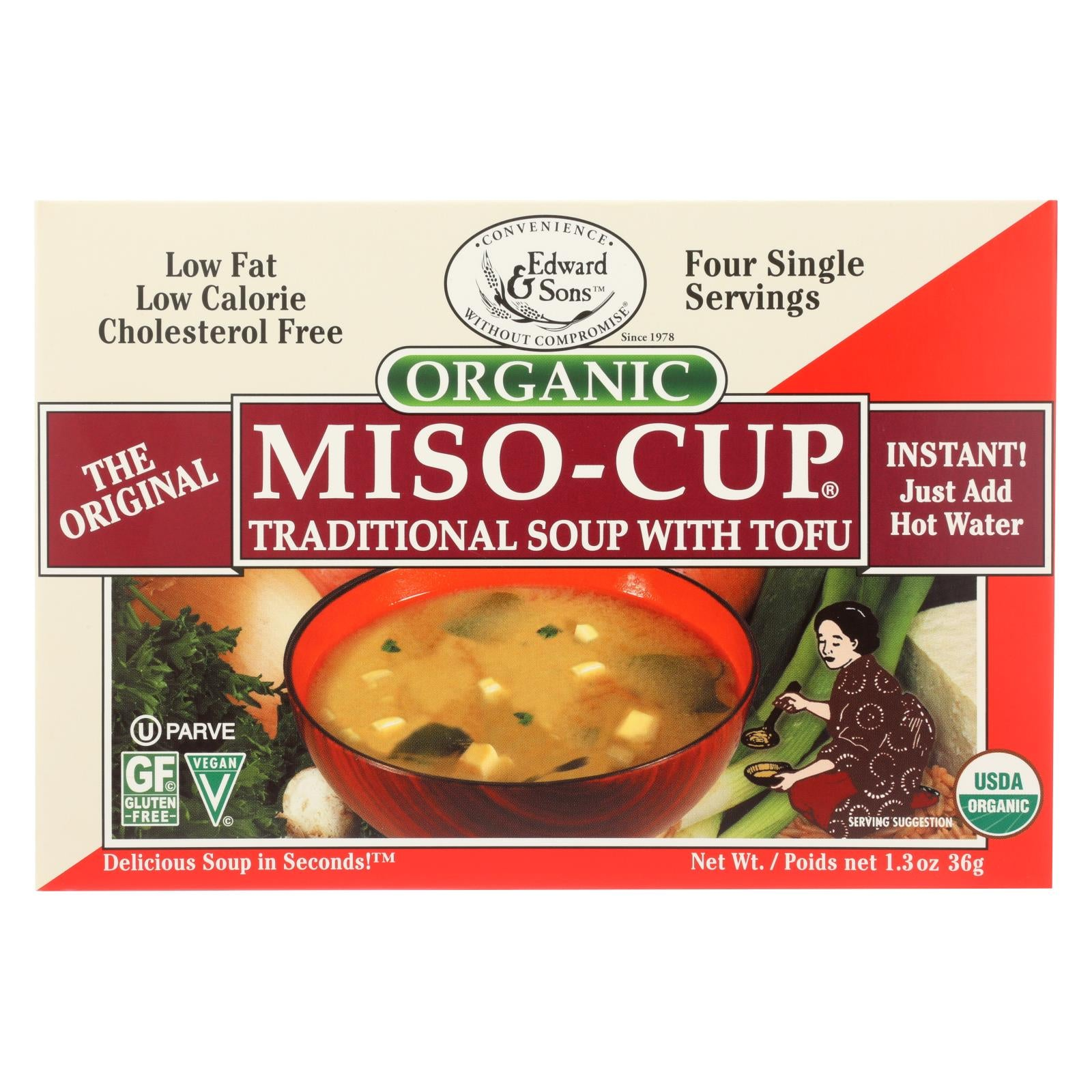 Edward And Sons Organic Traditional Miso - Cup - Case Of 12 - 1.3 Oz. HG0943837