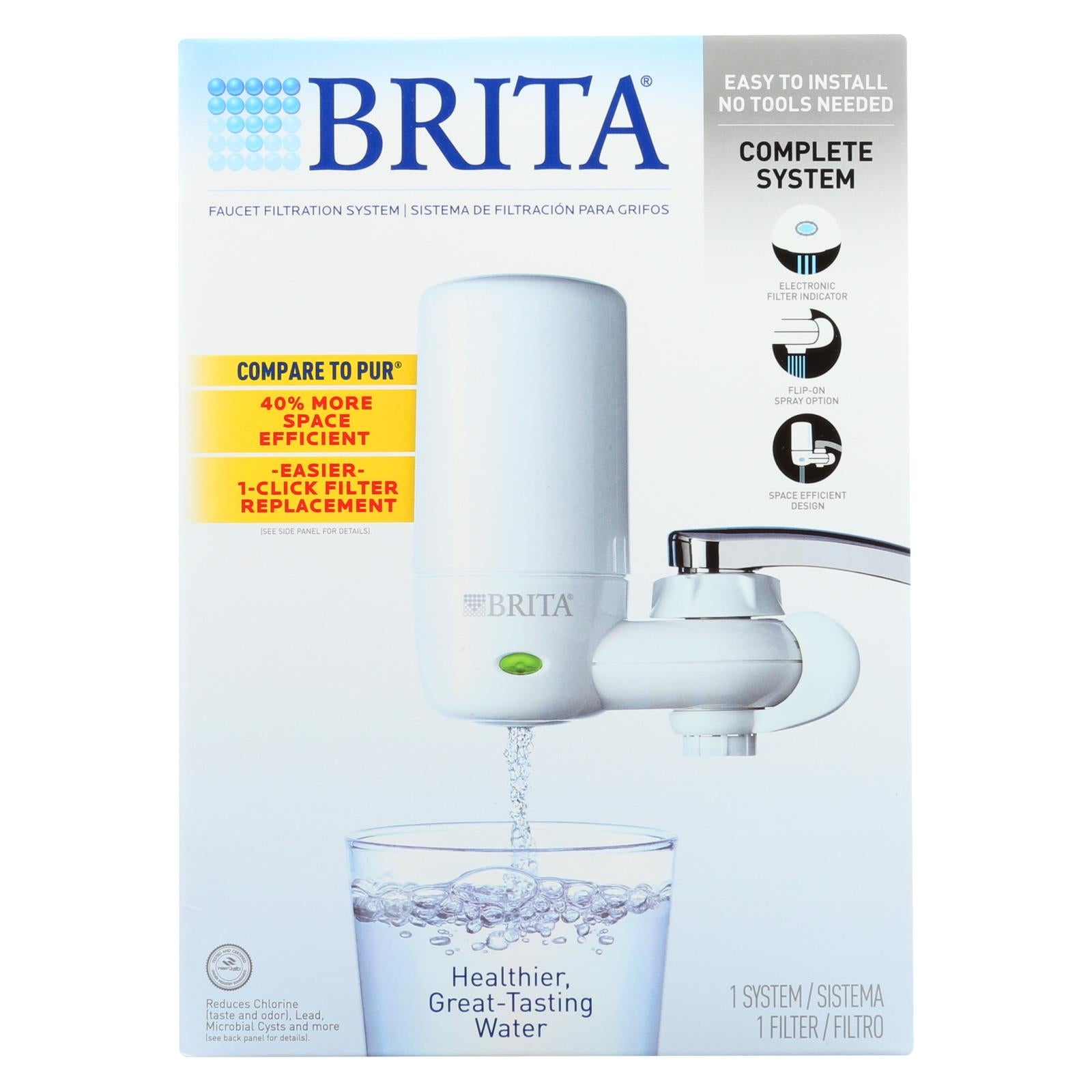 Brita Advanced Faucet Filtration System White 1 Count HG0953083