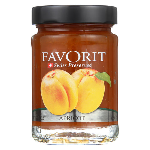 Favorit Preserves - Swiss - Apricot - 12.3 Oz - Case Of 6