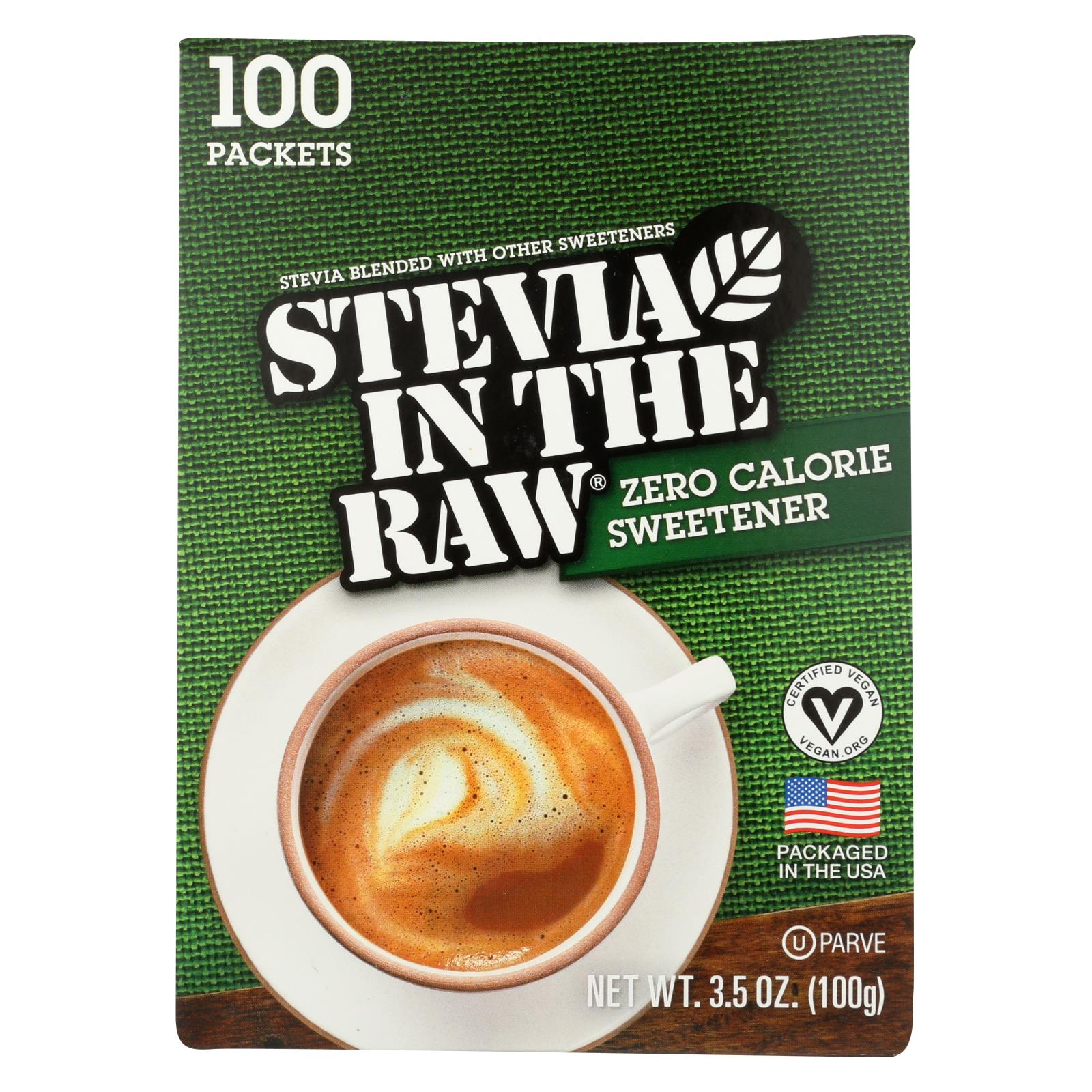 Stevia In The Raw Sweetener - Packets - Case Of 12 - 100 Count HG1003375