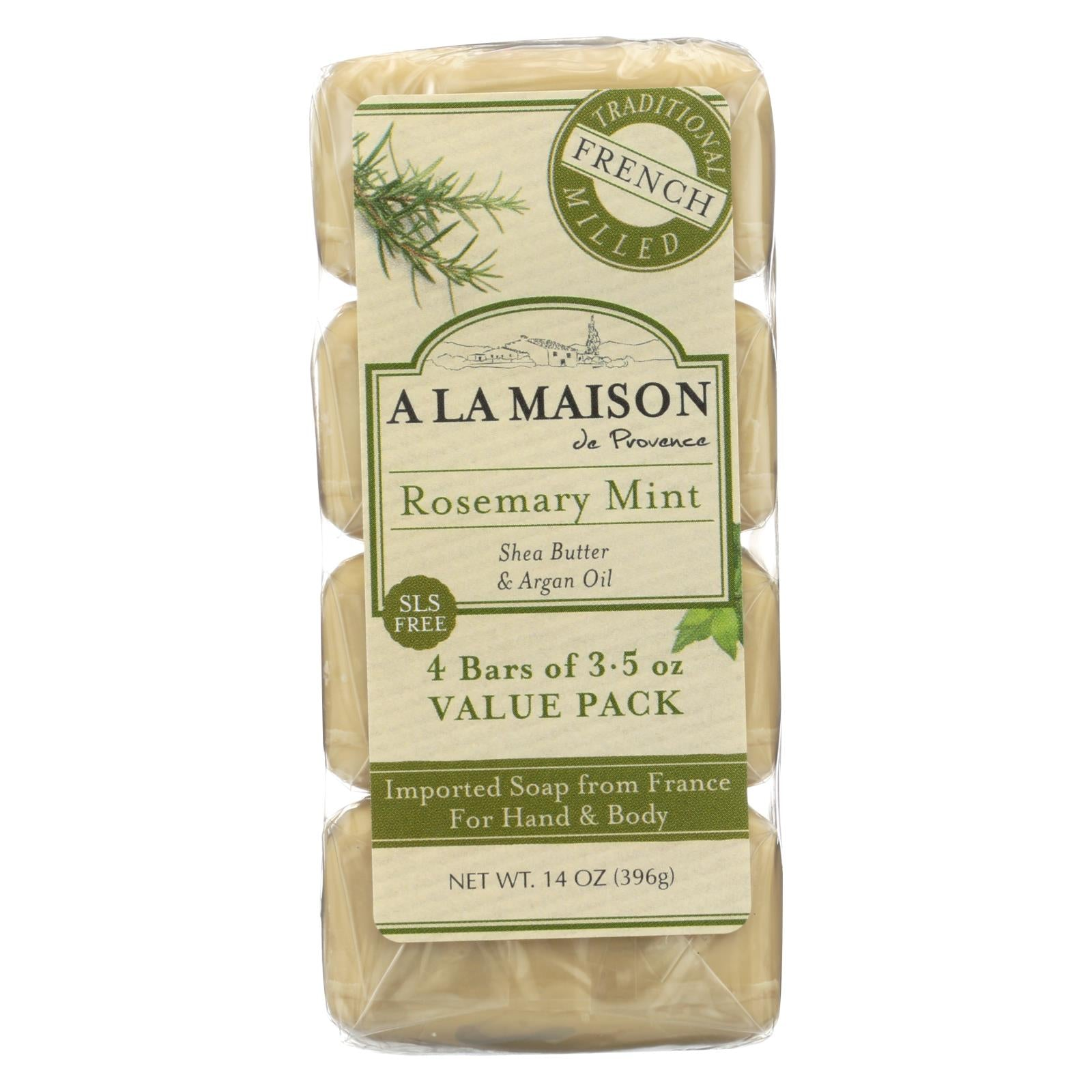 A La Maison Soap Review Of A La Maison Bar Soap Rosemary Mint Value 4 Pack The
