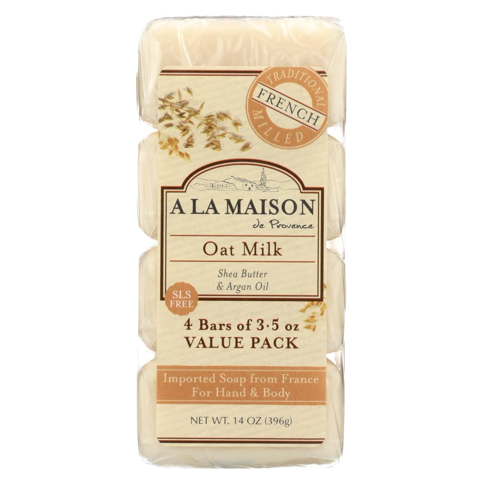 A la maison bar soap oat milk value 4 pack the green for A la maison soap