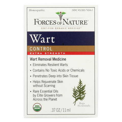 Forces Of Nature - Organic Wart Control - Extra Strength - 11 Ml