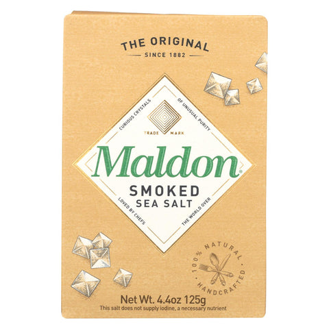 Maldon Flakes - Smoked Sea Salt - Case Of 6 - 4.4 Oz.
