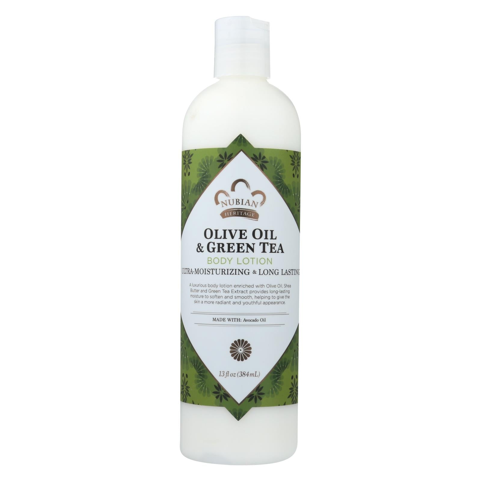 Nubian Heritage Lotion - Olive Butter With Green Tea - 13 Fl Oz HG1074434